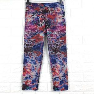 Onzie Multi Color Print Capri Leggings XS